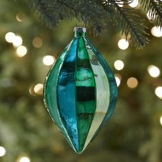 Faceted Glass Ornament