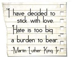 Beautiful words from Dr. King.