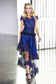 rodarte fashion, vans, style, blue, dress, rodart spring, vlada roslyakova, rodart ss12, spring 2012