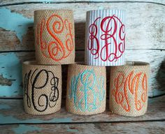 koozies, Love the burlap look