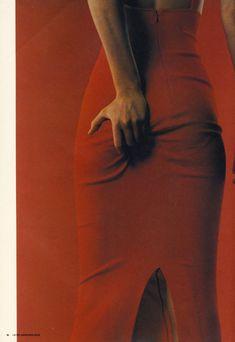 Amber Valletta by Juergen Teller for I-D magazine 1996