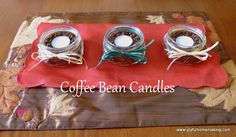 Joyful Homemaking: Coffee Bean Candles Joy Homemaking, Coffee Beans Candles, Christmasgifts Ideas, Gift Ideas, Inexpenive Gift, Fun Gift, Inexpensive Gift, Teas Lights, Mr. Beans
