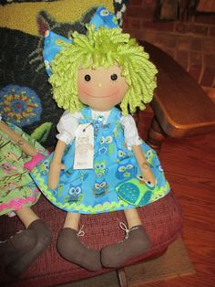 Raggedy Ann and Her Owl by craftystitchers on Etsy, $21.95 owl
