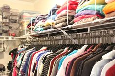 Wrong size and seasonal clothing storage solutions