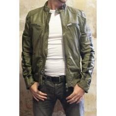 Cool steel green Diesel Liris 51p Leather Jacket for   649.94 @ http