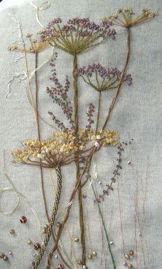 stitched wild flowers