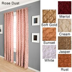 in colors from cream to gold, rust, or jasper, this 96-inch curtain ...