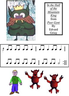 Peer Gynt: In the Hall of the Mountain King (I like the simplified version of the story)