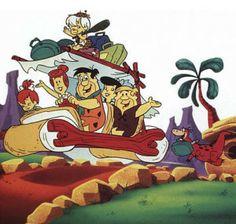 Hurrying home from school to watch The Flintstones Cartoons on tv.