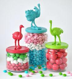 bird candy jars by Torie Jayne