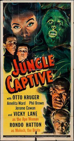 Jungle Captive (Universal, 1945) #horror