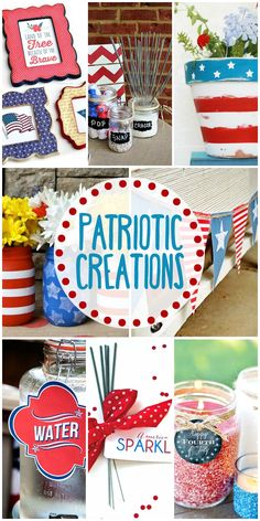 A roundup of the best patriotic crafts, decor, and printables for the 4th of July!!
