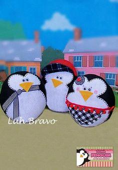 Pesos de Porta Family Penguin  www.facebook.com/donapenguim