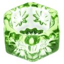 Salt Cellars - Depression Green Glass Hexagonal Salt Cellar