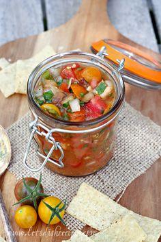 Garden Fresh Salsa with Roasted Jalapenos