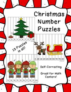 13 adorable puzzles to use for math centers or your small math groups. $