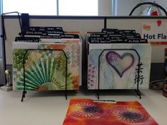 """Inky Folders - Make Some For Your Workspace! Oh I WANT these - what a great """"play"""" surface to cover with paints (Gelli-plate prints maybe?)."""
