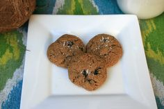Paleo Almond Butter Cookies with Coconut and Raisins | Ditch The Wheat