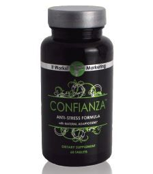 Confianza is a naturally based supplement that increases your energy levels while reducing stress and fatigue. Its special blend of herbs was developed to provide a safe way to enhance your ability to cope with all forms of stress: physical, emotional, or environmental.     Confianza's proprietary blend of herbs includes many ingredients called adaptogens. Adaptogens are natural substances that work through the adrenal glands to produce adjustments in the body that help combat stress and increase your resistance to it. These ingredients in Confianza can help restore balance within your body, allowing you to better cope with the stresses in your life.   • Anti-stress formula  • Made with natural adaptogenic herbs  • Improves mental focus & concentration  • Helps the body cope with physical stress  • Provides energy and reduces fatigue  • Helps restore body balance
