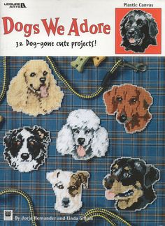 DOGS WE ADORE FRONT COVER stitch dog, dog cross