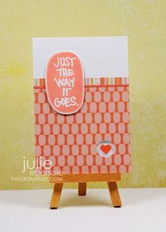 awesome card by Julie Ebersole...love the heart peeking through from the inside of the card...must do this!