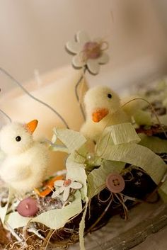 Easter wreath with chicks