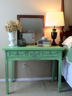 chalk painted furniture ideas | Chalk Paint Color Theory - Antibes Green