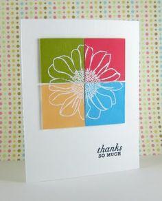 Papercrafts / Dahlia Memories: Color block Thanks