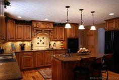 Tuscan Kitchen Design - with black appliances