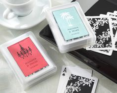Personalized playing cards as a favor? how fun ha