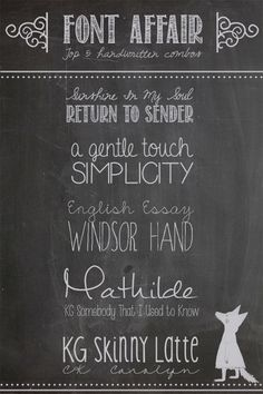 Design and Maple: Top 5 Handwritten {Free} Font Combinations