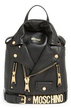 Moschino 'Biker Jacket' Leather Backpack | Nordstrom