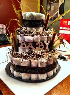 Camo diaper cake