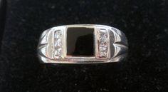 Vintage Sterling Silver Mens Ring Sz.12 Black by TrendyTreasures1, $89.00