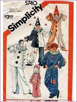 1970s sewing patterns.  Mom made clown costumes for Halloween one year.