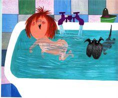 Drijven en zinken in bad