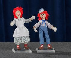 Raggedy Ann and Andy Miniature Dolls