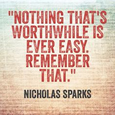 Nothing that's worthwhile...