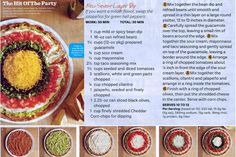 The hit of the party...seven layer dip from Ladies Home Journal...