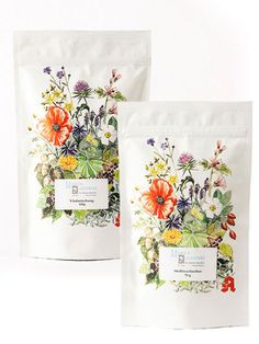 pretty floral packaging