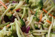 Broccoli slaw (healthier version of Chinese chicken salad, without the Ramen)