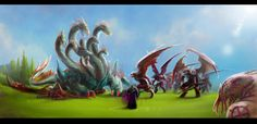 The fall of Loarnab the Hydra God by Valhelsing2 - flippin' incredible, and inspired by the Lore obtained during the Ancient Combat update. #RuneScape