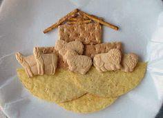 sunday school, edible crafts, noah ark, toddler, preschool crafts