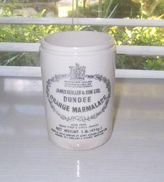 Vintage James Keiller & Sons LTD Dundee Marmalade Jar $35.00 USD