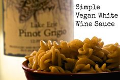 Simple Vegan White Wine Sauce with Pasta