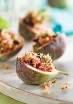 Figs Stuffed with Sesame Mint and Quinoa
