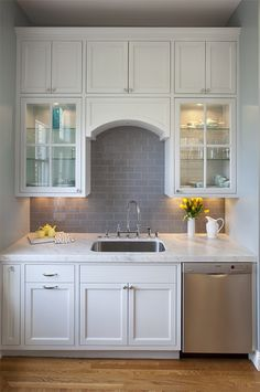 Kitchen Photos Gray Subway Tile Design, Pictures, Remodel, Decor and Ideas - page 2