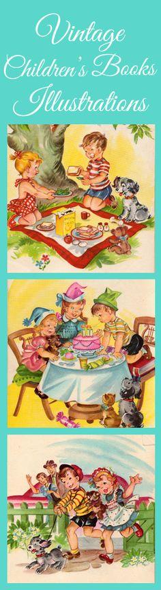Fun vintage children's books illustrations