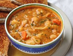 cauliflower cannellini bean soup (pressure cooker)