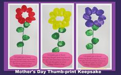 Mother's Day hand print rhyme, poem for Mother's Day, craft gift for Mother's Day